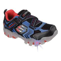 Boys' Skechers Magic Lites Street Lightz Switches Sneaker Black/Royal
