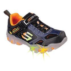 Boys' Skechers Magic Lites Street Lightz Vroom Sneaker Black/Navy/Orange