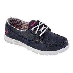 Women's Skechers On the GO Tide Boat Shoe Navy/White