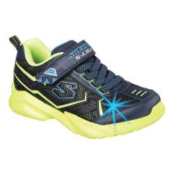 Boys' Skechers S Lights Broozer Sneaker Navy/Lime