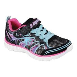 Girls' Skechers S Lights Ecstatix II Sneaker Black/Multi