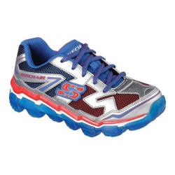 Boys' Skechers Skech-Air Fly Back Sneaker Silver/Royal