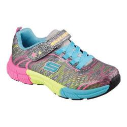 Girls' Skechers Swivels Turn It Up Sneaker Gunmetal/Multi