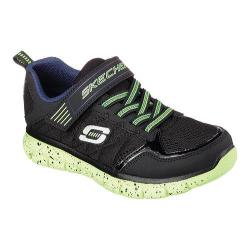 Boys' Skechers Synergy Power Flex Training Shoe Black/Lime
