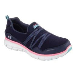 Women's Skechers Synergy Scene Stealer Walking Shoe Navy/Pink