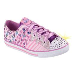 Girls' Skechers Twinkle Toes Chit Chat Dizzy Dayz Pink