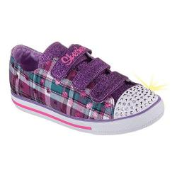Girls' Skechers Twinkle Toes Chit Chat Prepster Girlz Sneaker Purple/Multi
