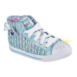 Girls' Skechers Twinkle Toes Chit Chat Sweet Seekers High Top Light Blue