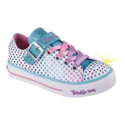 Girls' Skechers Twinkle Toes Shuffles Mysticals Sneaker White/Multi