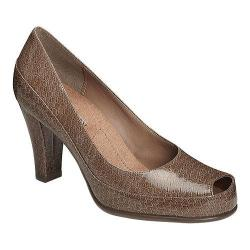 Women's A2 by Aerosoles Big Ben Pump Taupe Snake Patent