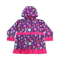 Girls' Western Chief Lovely Floral Raincoat Purple