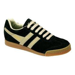 Women's Gola Harrier Suede Black/Ecru