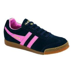 Women's Gola Harrier Suede Navy/Pink