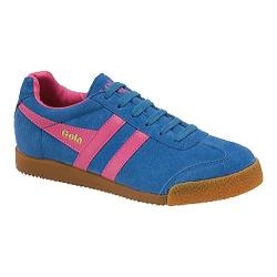 Women's Gola Harrier Suede Royal Blue/Fuchsia