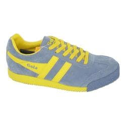 Women's Gola Harrier Suede Storm Blue/Yellow