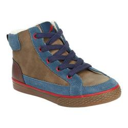 Boys' Hanna Andersson Tomas Lace Up Ankle Boot Foggy Blue Leather/Plastic