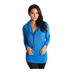 Women's Be Up Cowl Neck Jacket Blue