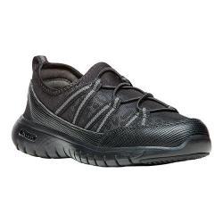 Women's Propet TravelLite Ghillie Sneaker Black Leopard Mesh/Neoprene