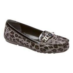 Women's Rockport Total Motion Chain Keeper Grey Leopard Print Hair On Leather/Patent Leather