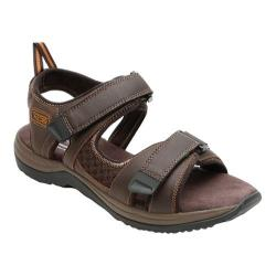 Men's Rockport XCS Urban Gear Sport Two Strap Sandal Dark Brown Leather