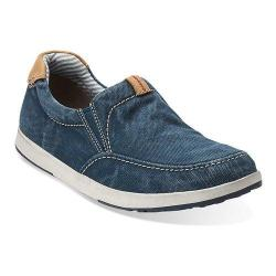 Men's Clarks Norwin Easy Washed Navy Canvas