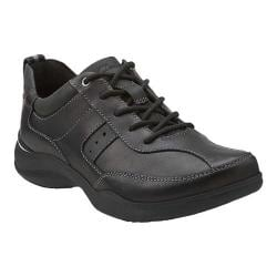 Men's Clarks Wave.Course Black Leather