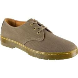 Men's Dr. Martens Delray 3 Eye Shoe Olive Overdyed Twill Canvas