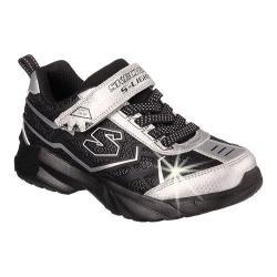 Boys' Skechers S Lights Broozer Sneaker Silver/Black