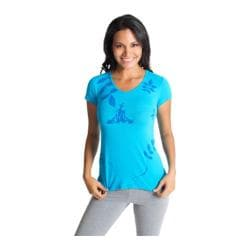 Women's Be Up Namaste Graphic Tee Blue