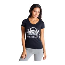 Women's Be Up Push Your Limits Graphic Tee Black/White