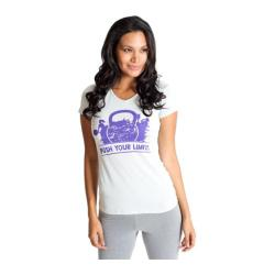 Women's Be Up Push Your Limits Graphic Tee Grey/Purple