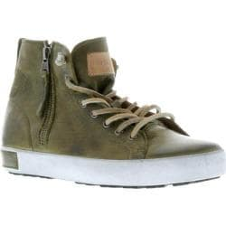 Women's Blackstone JL18 High Top Zipper Sneaker Olive Full Grain Leather