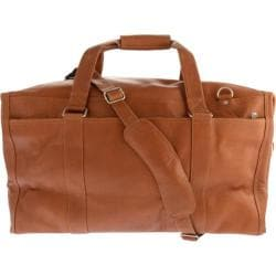 Piel Leather Extra Large Zip-Pocket Duffel 2997 Saddle Leather