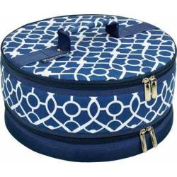Picnic at Ascot Pie/Cake Carrier Trellis Blue 13025406