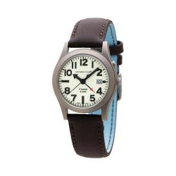 Men's Momentum Watch Pathfinder II Touch Leather Watch Lume/Brown Touch Leather/Blue Backing