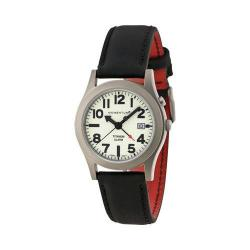Men's Momentum Watch Pathfinder II Touch Leather Watch Lume/Brown Touch Leather/Red Backing