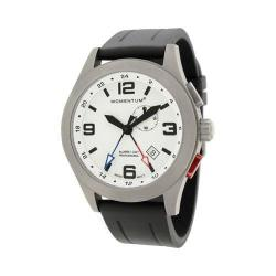 Men's Momentum Watch Vortech GMT Groove Rubber Watch White/Black Groove Rubber