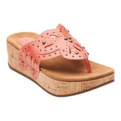 Women's Clarks Palima Palm Coral Leather