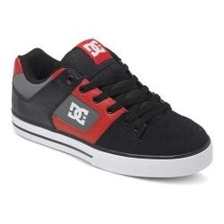 Men's DC Shoes Pure Black/Athletic Red