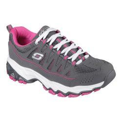 Women's Skechers Encore Be Seen Training Shoe Charcoal/Pink