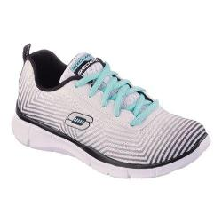 Girls' Skechers Equalizer Expect Miracles Sneaker White/Black