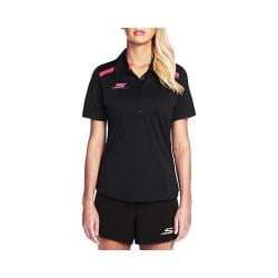 Women's Skechers Fairway 6 Button Polo Shirt Black