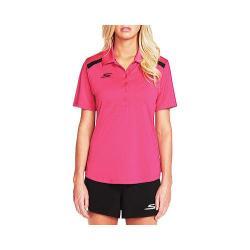 Women's Skechers Fairway 6 Button Polo Shirt Pink