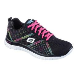 Women's Skechers Flex Appeal Training Shoe Totally Fab Black/Multi