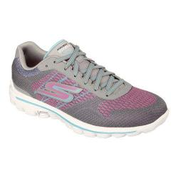 Women's Skechers GOwalk 2 Spark Sneaker Gray/Multi