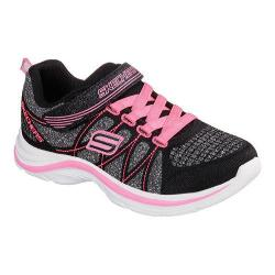 Girls' Skechers Swift Kicks Sneaker Black/Neon Pink
