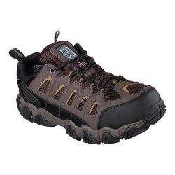 Men's Skechers Work Blais Steel Toe Lace Up Dark Brown