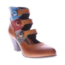 Women's L'Artiste by Spring Step Autumn Bootie Camel Multi Leather