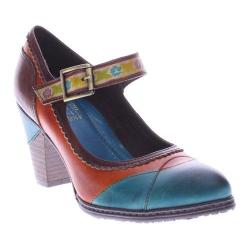 Women's L'Artiste by Spring Step Getaway Mary Jane Turquoise Multi Leather