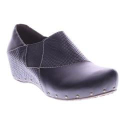 Women's L'Artiste by Spring Step Gorgias Closed Back Clog Black Leather